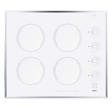 Summit CR424WH - Cooktop, electric, four-burner