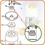 Sunkist 07 - Umbrella Ring, with set screw and gasket, for Juicer (Net). Her