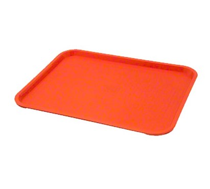 Pinch TRY-1418OR - Fast Food Tray, 14in. x 18in. orange