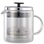 Service Ideas T299SR - French Coffee Press, 0.4 liter, 4-3/8