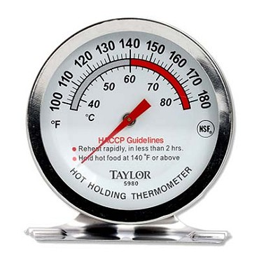 Taylor Thermometer 5980N - Professional Series Thermometer, Oven, 2 in. dia. dial