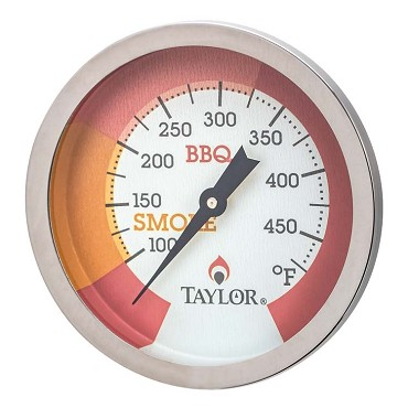 "Taylor Thermometer 814GW\ - Grill / Smoker thermometer with 2-3/4"" Dial"