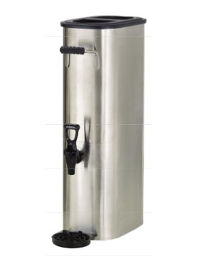 Boswell TD5SQ - 5 Gallon Rectangular Stainless Steel Tea Dispenser
