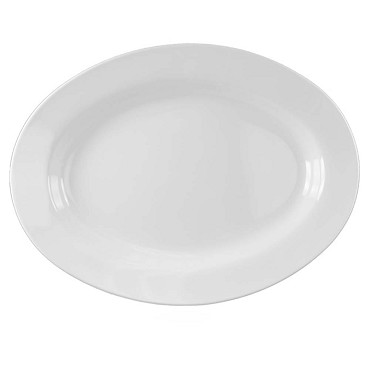 "Thunder 2114TW - Platter, 28 oz, 14-1/8"" x 10-5/8 inch, Imperial White, (Case of 12)"