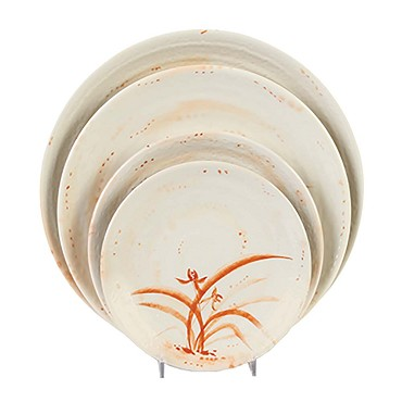 "Thunder 1707 - Plate, 7-1/2"" dia., melamine, Gold Orchid, (Case of 12)"