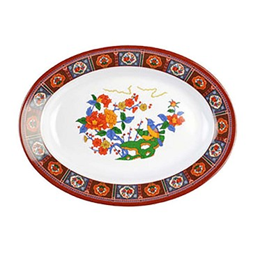 "Thunder 2113TP - Platter, 24 oz, 13"" x 9-3/4 inch, melamine, Peacock, (Case of 12)"