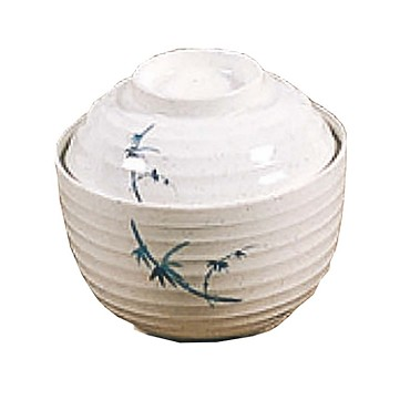 "Thunder Group 3502BB - Miso Bowl, 9 oz., 4"", with lid, melamine, Blue Bamboo"