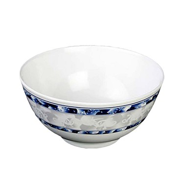 "Thunder 5206DL - Rice Bowl, 25 oz., 5-7/8"" dia., melamine, Blue Dragon, (Case of 12)"