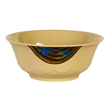 "Thunder 5275J - Bowl, 34 oz., 7-1/4"" dia., scallop edge, melamine, Wei, (Case of 12)"