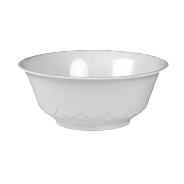 "Thunder 5275TW - Scalloped Bowl, 34 oz., 7.25"" dia., melamine, White, (Case of 12)"