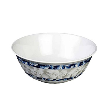 "Thunder Group 5308DL - Swirl Bowl, 48 oz., 8"" dia., melamine, Blue Dragon"