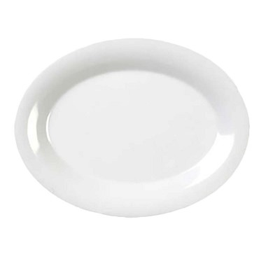 "Thunder CR209W - Platter, 9-1/2"" x 7-1/4 inch, melamine, white, (Case of 12)"