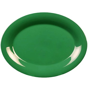 "Thunder CR213GR - Platter, 13-1/2"" x 10-1/2 inch, melamine, green, (Case of 12)"