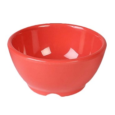 "Thunder CR5804RD - Soup Bowl, 10 oz., 4-5/8"" dia., melamine, orange, (Case of 12)"