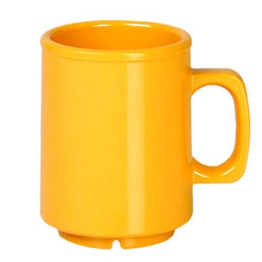 Thunder CR9010YW - Mug, 8 oz., melamine, yellow, (Case of 12)