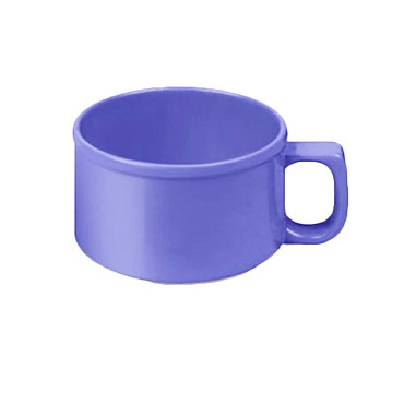 "Thunder CR9016BU - Soup Mug, 10 oz., 4"" dia., melamine, purple, (Case of 12)"