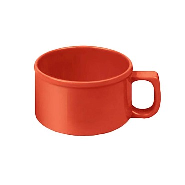 "Thunder CR9016PR - Soup Mug, 10 oz., 4"" dia., melamine, pure red, (Case of 12)"