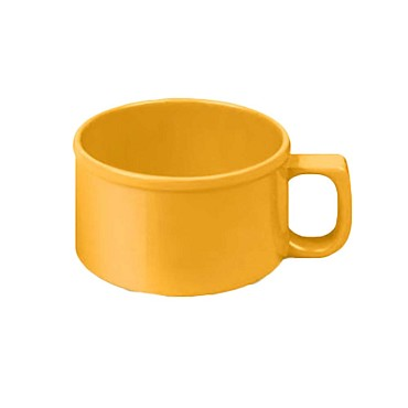 "Thunder CR9016YW - Soup Mug, 10 oz., 4"" dia., melamine, yellow, (Case of 12)"
