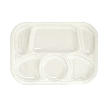 "Thunder ML803W - Six Compartment Tray, 13"" x 9.5 inch, melamine, white, (Case of 12)"