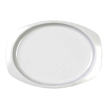 "Thunder NS212W - Platter, 12-1/2"" x 9"" , melamine, NuStone White, (Case of 12)"
