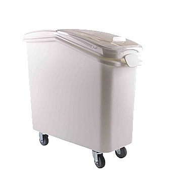 "Thunder PLIB021C - Ingredient Bin, 21 gallon, 13"" x 29-1/4"" x 28"", clear sliding lid, white"