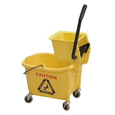 Thunder PLWB361 - Mop Bucket/Wringer Combination, 36 quart bucket, plastic, yellow