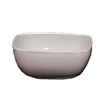 Thunder PS3103W - Square Bowl, 5 oz., 3.5 inch, rounded corners, White, (Case of 12)
