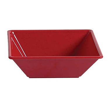 "Thunder PS5010RD - Bowl, 80 oz., 10"" x 10 inch, 2-1/2"" deep, Red, (Case of 12)"