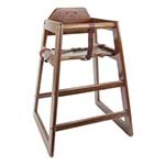 Thunder WDTHHC019 - High Chair, safety straps, wood, walnut finish, ships KD