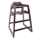 Thunder WDTHHC020 - High Chair, safety straps, wood, mahogany finish, ships KD