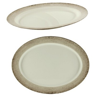 "Thunder Group SD2121J - Platter, 21"" x 15"", oval, melamine, Jazz, (Case of 2)"