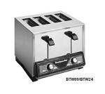 Toastmaster BTW09 - 4-slice bagel/bun Pop-Up Toaster, stainless steel with mirro