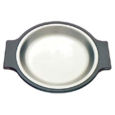 "Tomlinson 1006362 - Platter, 10-1/4"" dia., round, aluminum, frosty finish (Case of 12)"