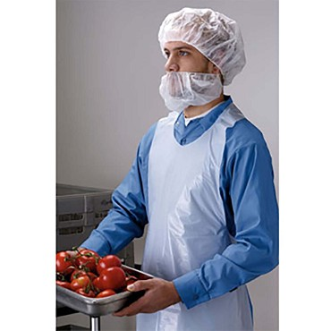 "Tomlinson 1036326 - Disposable Apron, polyethylene, 1 ml, 28"" x 46"", packed 1000 per case"