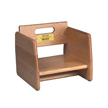 "Tomlinson 1016295 - Booster Seat, solid 3/4"" oak, cherry finish (Case of 2)"