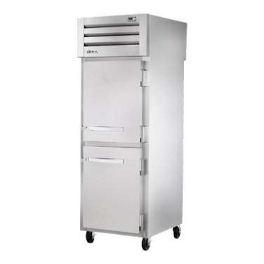 True STG1RPT-2HS-1S-HC - Pass-thru Refrigerator, 1-section, (2) stainless front & (1) stainless rear