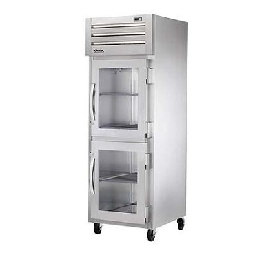 True STG1R-2HG-HC - Reach-In Refrigerator, one-section, (2) glass half doors with locks