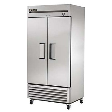 True T-35-HC - Reach-In Refrigerator, two-section, stainless steel doors & front