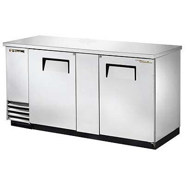 True TBB-3-S-HC - Back Bar Cooler, two-section, (3) keg, (2) full doors