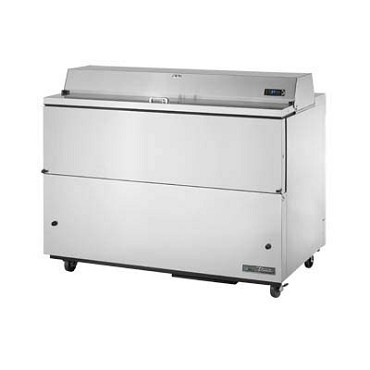 True TMC-58-S-SS-HC - Mobile Milk Cooler, (16) crate, stainless steel flip-up lid, stainless exterior