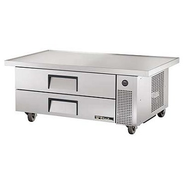 "True TRCB-52-60 - Refrigerated Chef Base, 51-7/8""L, 18 gauge stainless steel top, (2) drawers"