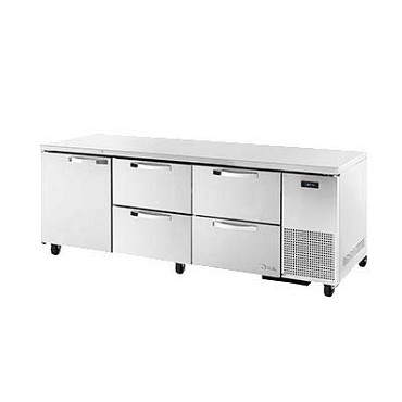 True TUC-93D-4-HC~SPEC3 - Deep Undercounter Refrigerator, 33-38°F, (1) door, (4) drawers