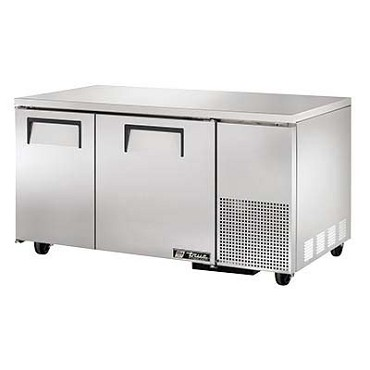 True TUC-60-32F-HC - Deep Undercounter Freezer, -10° F, (2) stainless steel doors, side mount