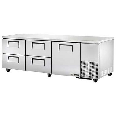 True TUC-93D-4-HC - Deep Undercounter Refrigerator, 33-38°F, (1) door, (4) drawers