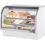 True TCGG-60-LD - Curved Glass Deli Case, 60-1/4