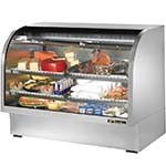 True TCGG-60-S-LD - Curved Glass Deli Case, 60-1/4