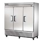 True T-72-HC - Reach-In Refrigerator, three-section, stainless steel doors & front