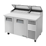 True TPP-60 - Pizza Prep, 33-41°F pan rail, (2) full doors, (8) 1/3 pans
