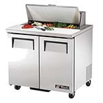 True TSSU-36-08 - Sandwich/Salad Prep Table, (8) 1/6 pans, (2) full doors