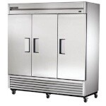 True T-72F-HC - Freezer, three-section, -10°F, (3) solid doors, stainless steel front